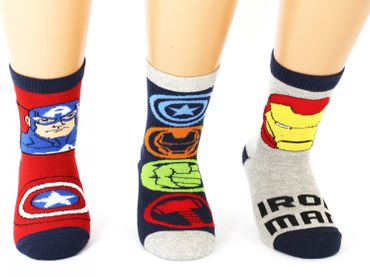 Marvel Kinder Superhero Socken 3er Pack – Bild 2