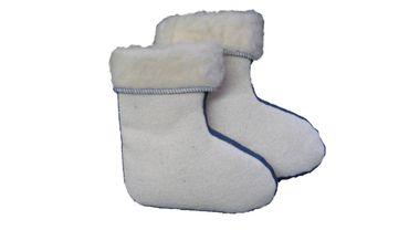 Stiefeleinsatz Lammwolle für Gummistiefel – Bild 2