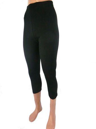 Damen Capri Leggings Baumwolle – Bild 3