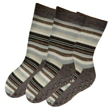 ABS Socken Stoppersocken geringelt Damen 3er Pack – Bild 1