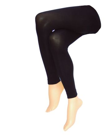 Damen Baumwoll Stretch Legging schwarz