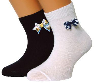 Kinder Socken uni mit Schleife 3er Pack