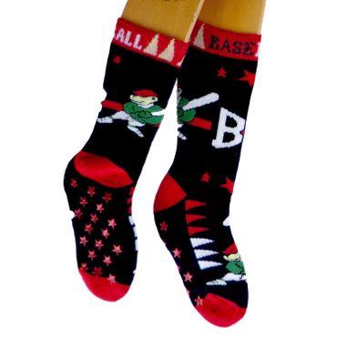 ABS Socken Kinder Einzelpaar Motiv Baseball – Bild 2