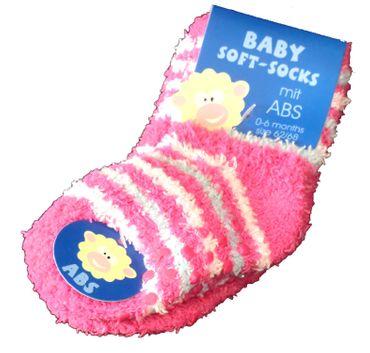 Baby Kuschelsöckchen Vollplüsch mit ABS 2er Pack – Bild 4