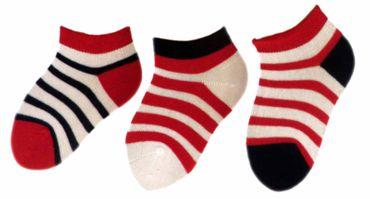 Baby Kinder Ringel sneaker 3er Pack Socken – Bild 2