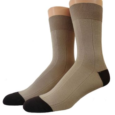Herren Baumwoll Socken zweifarbig Ton in Ton abgesetzt – Bild 1