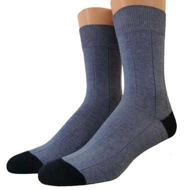 Herren Baumwoll Socken zweifarbig Ton in Ton abgesetzt – Bild 2