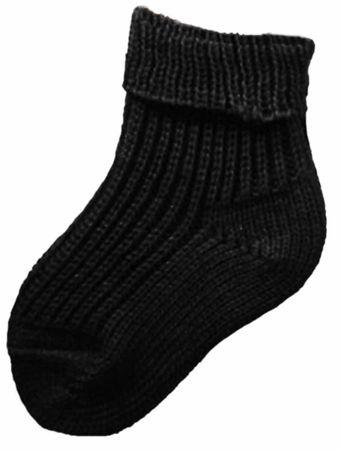 Baby Kinder Socken Schafpatenwolle schwarz – Bild 1