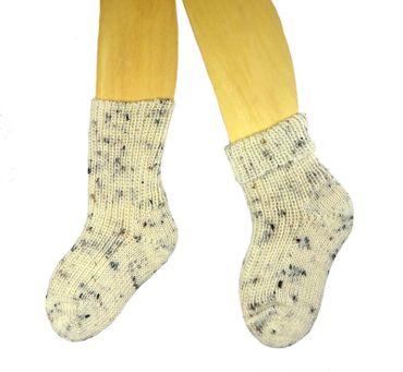 Baby Kinder Socken natur Tweed – Bild 1