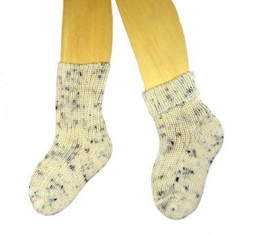 Baby Kinder Socken natur Tweed – Bild 2