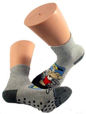 ABS Kinder Socken Vollplüsch 2er Pack Motiv Maus – Bild 2