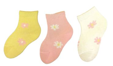 Baby Socken Margeritenblüte 98% Baumwolle 3er Pack – Bild 2