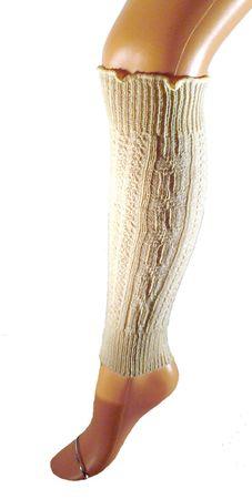 Kinder Stulpen Legwarmer 40 cm Wolle – Bild 2