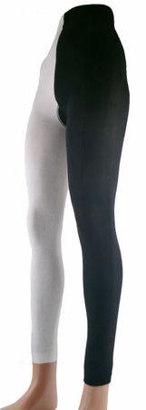 Damen Strickleggings schwarz/weiß und schwarz/rot – Bild 1