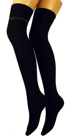 Damen Overknees schwarz Doppelpack – Bild 2