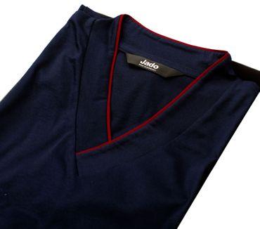 Jado Herren Pyjama lang marine – Bild 2