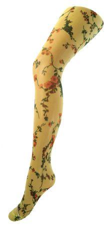 Kinder Feinstrumpfhose bedruckt Blütenranken 20 DEN – Bild 3