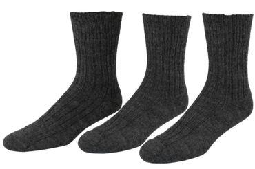 Damen Herren Socken ohne Gummi 100% Wolle 3-er Pack – Bild 3