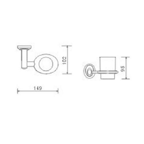 Exklusiver Design - Glashalter / Zahnbürstenbecher Bild 2