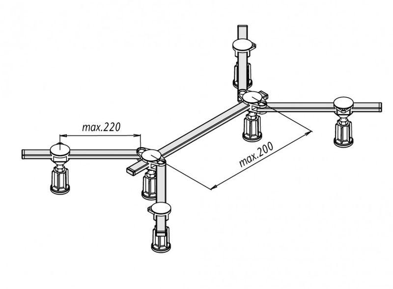 Duschwannenfuß Wannenfuß Stahl / Acryl Duschwannen 75x75-100x100cm Höhenverstellbar 87-115mm Bild 3
