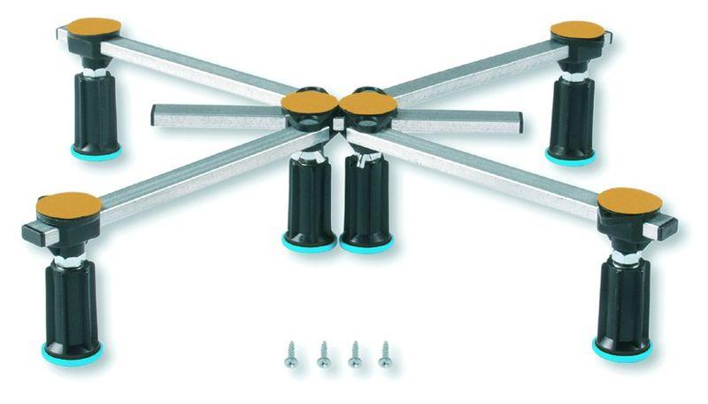 Duschwannenfuß Wannenfuß Stahl / Acryl Duschwannen 75x75-100x100cm Höhenverstellbar 87-115mm