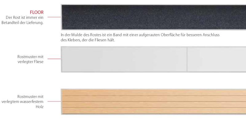 Ablaufrinne mit Rand für Rost und Fliesenverlegung  Bauhöhe 65 mm Bild 6