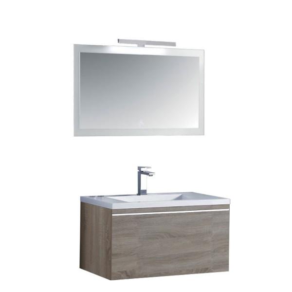 Badmöbel | Badezimmermöbel-Set Spiegel-LED Bild 2