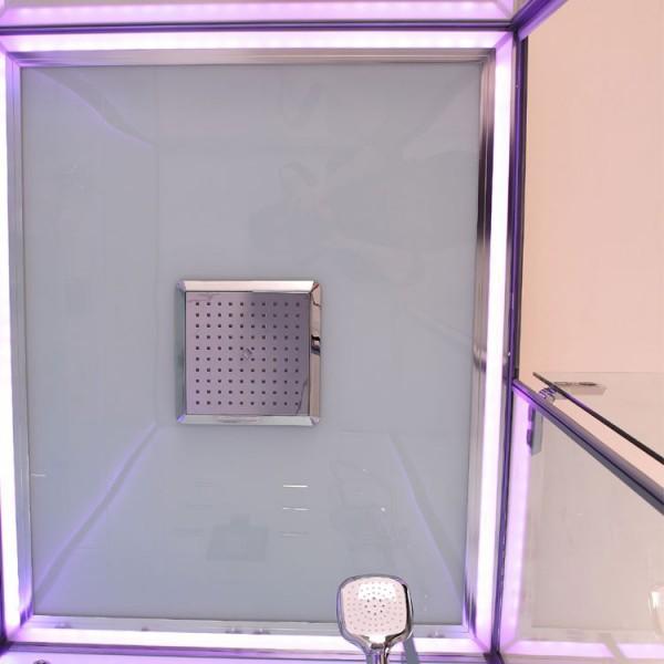 Dampfdusche | weiß | mit beleuchteter Rückwand |120cm x 90cm Bild 5