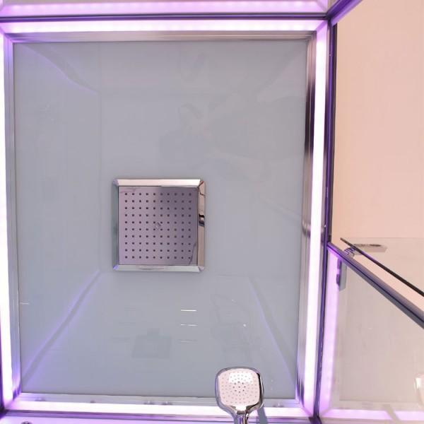 Dampfdusche | Weiß | mit beleuchteter Rückwand | 150cm x 90cm Bild 5