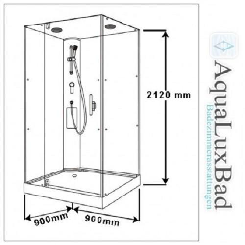 Dusche mit Rundumverglasung Duschkabine Duschabtrennung Sonderangebot aufbau ohne Silikon Bild 2