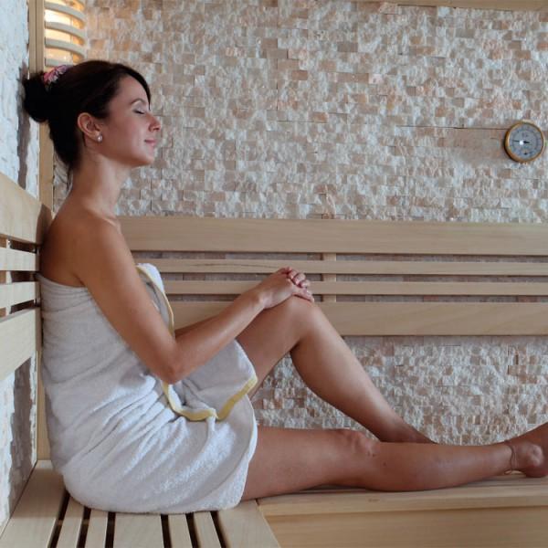 Sauna | Pappelholz| 9kW EOS BiO-MAX | 200x200 cm Bild 6