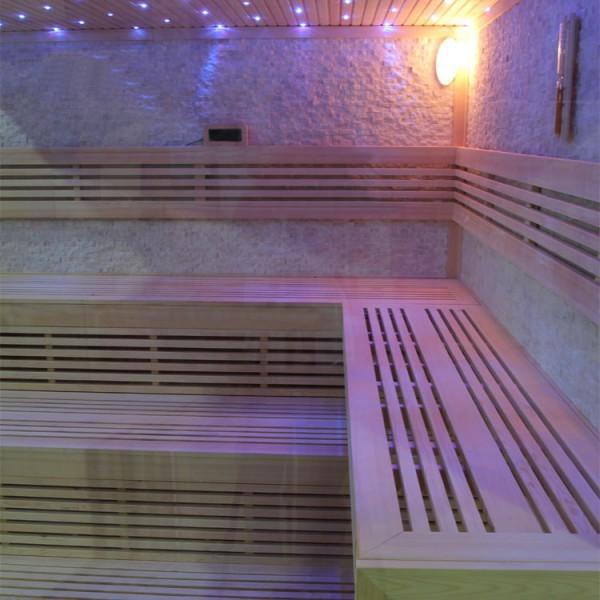 Sauna | Pappelholz | 12kW EOS BiO-MAX | 250x250 cm Bild 2