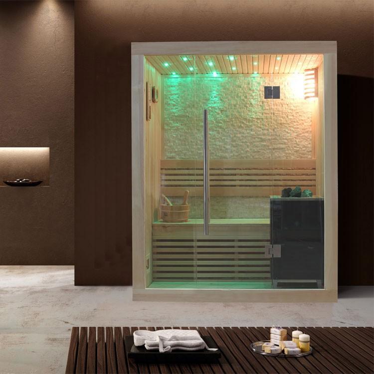 Sauna | Pappelholz| 3kW EOS BiO-Mini | 150x105 cm