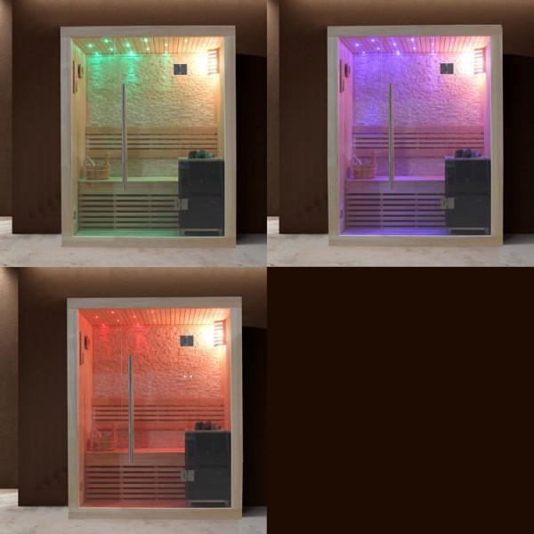 Sauna | Pappelholz| 3kW EOS BiO-Mini | 150x105 cm Bild 2
