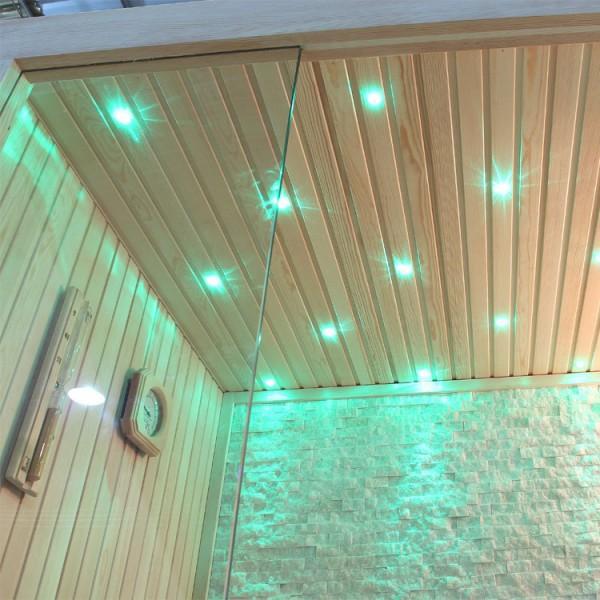Sauna | Pappelholz | 3kW EOS BiO-Mini | 180x105 cm Bild 3