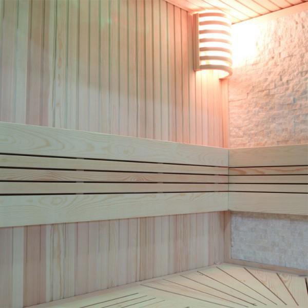 Sauna | Pappelholz | 9kW EOS BiO-MAX | 200x180 cm Bild 3