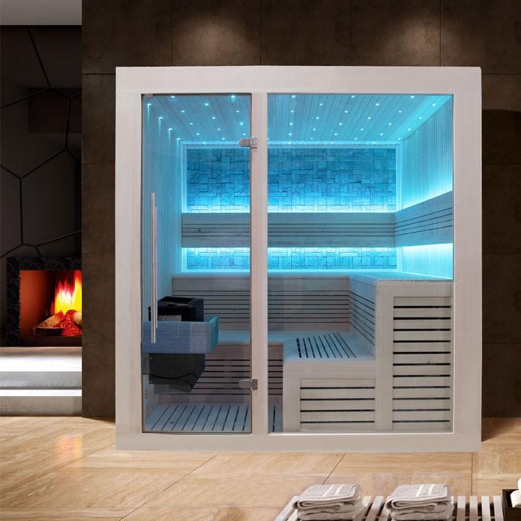 Sauna | Pappelholz | 9kW EOS BiO-Thermat | 200x200 cm
