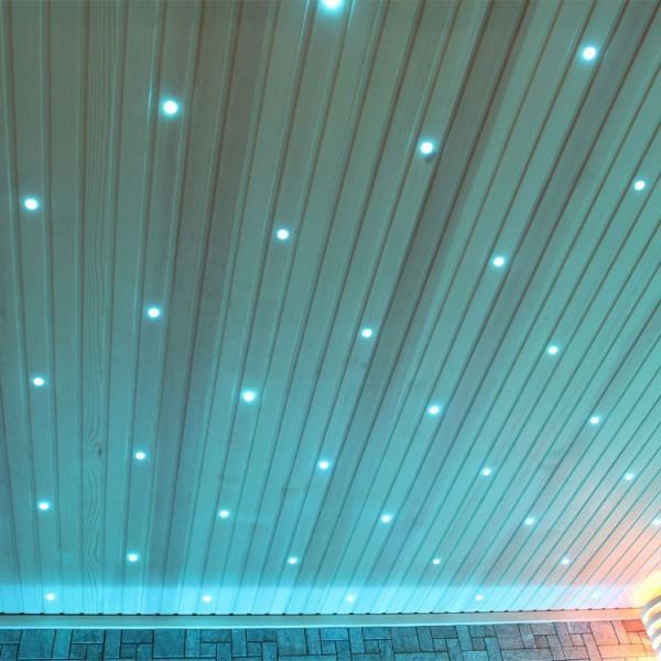 Sauna | Pappelholz | 9kW EOS BiO-Thermat | 200x200 cm Bild 2