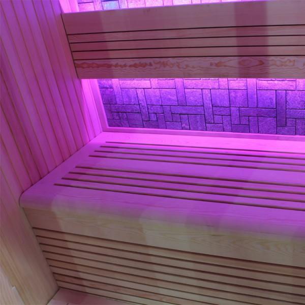 Sauna | Pappelholz | 9kW EOS BiO-Thermat | 200x120 cm Bild 6