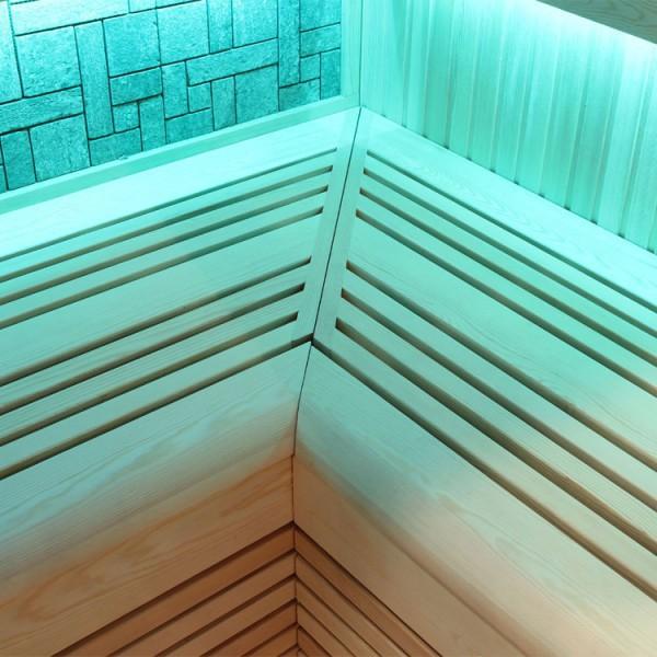 Sauna | Pappelholz | 9kW EOS BiO-Thermat | 180x120 cm Bild 7