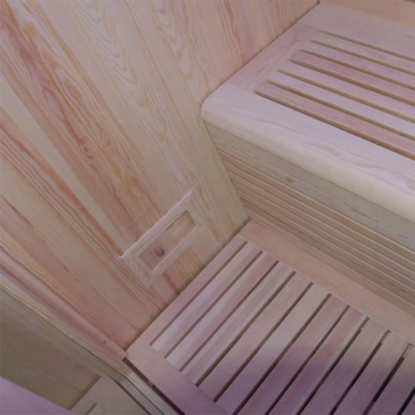Sauna | Pappelholz | 9kW EOS BiO-Thermat | 160x160 cm Bild 6