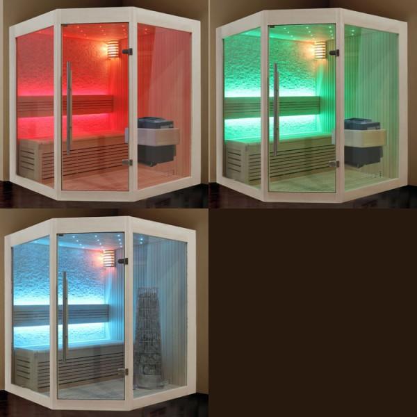 Sauna | Pappelholz | 9kW EOS BiO-Thermat | 160x160 cm Bild 7