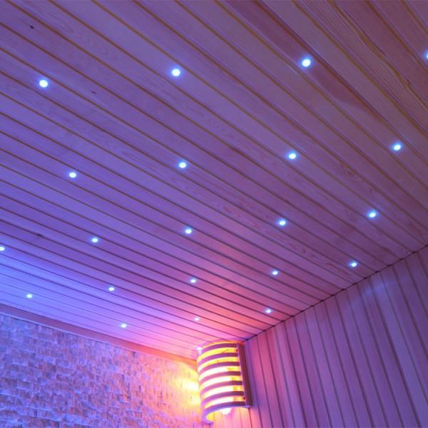 Sauna | Pappelholz | 9kW EOS BiO-Thermat | 160x160 cm Bild 10