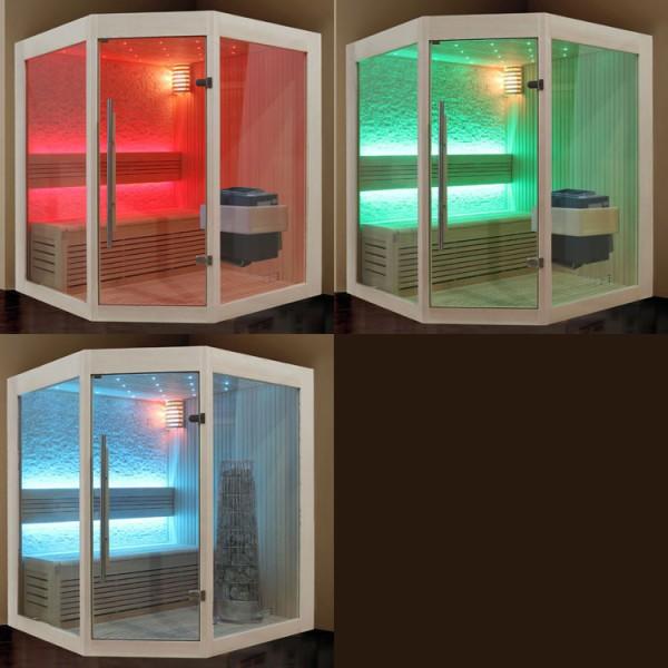 Sauna | Pappelholz | 9kW EOS BiO-Thermat | 140x140 cm Bild 7
