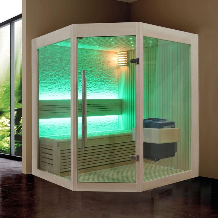 Sauna | Pappelholz | 9kW EOS BiO-Thermat | 140x140 cm