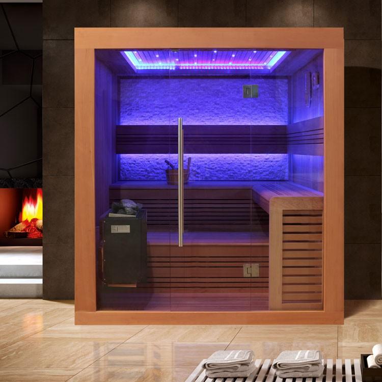 Sauna | rote Zeder | 9kW EOS BiO-Thermat | 220x170 cm
