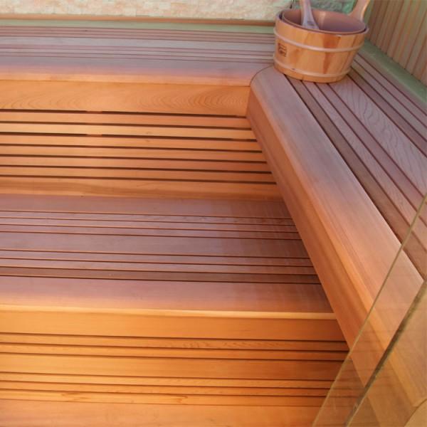 Sauna | rote Zeder | 9kW EOS BiO-Thermat | 220x170 cm Bild 2