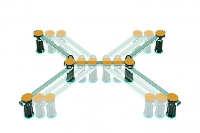 Duschwannenfuß Wannenfuß für Stahl / Acryl Duschwannen 75x75 bis 120x120cm Höhenverstellbar von 87 bis 115mm Bild 3