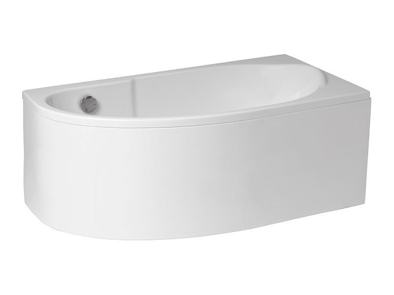 Badewanne | Wanne 145 x 85 cm | Rechts inkl. Wannenfuß und Ablaufgarnitur