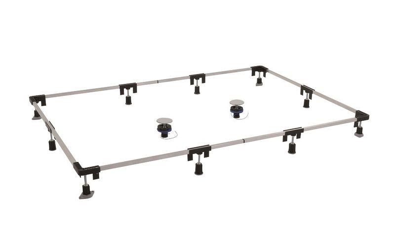 Montagerahmen für Duschwannen Duschwannenfuß Wannenfuß von 75 x 75 bis 120 x 200 cm
